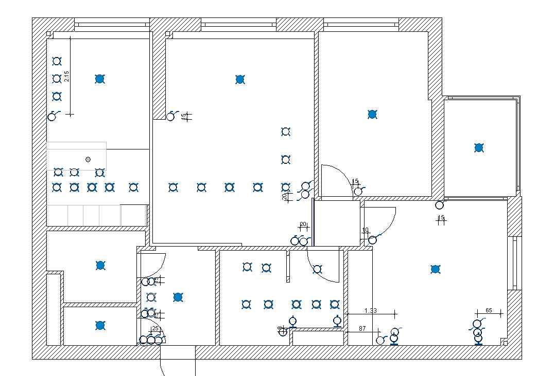 Схема квартиры.  Одна из последних работ по ремонту и электромонтажным работам в квартире, выполненной нами.